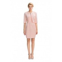 Elegant 1/2 Sleeved Mother of the Bride Dress & Overlay Jacket Set