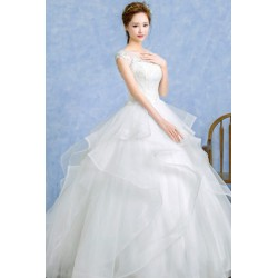 2016 Korean Style New Autumn & Winter Sheer Short-sleeve Wedding Dress