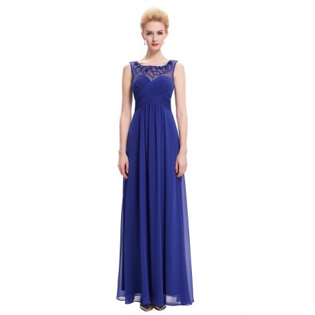 Sweet Embroidered Chiffon Floor Length Evening Dress (5 Colors)