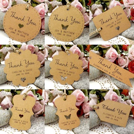 Thank U Wedding Gifts : ... Brown Kraft Wedding Favor / Thank You / Gift Tags Wedding Favors