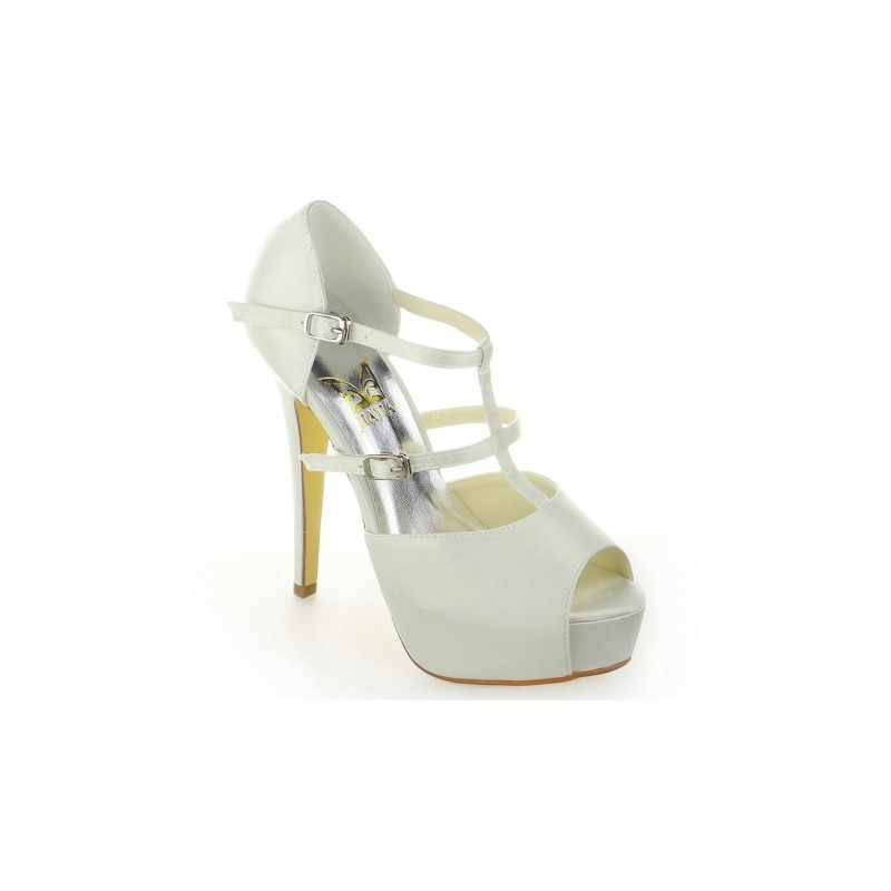 Andrea peep toe wedding shoes bridal shoes - My peep toes ...