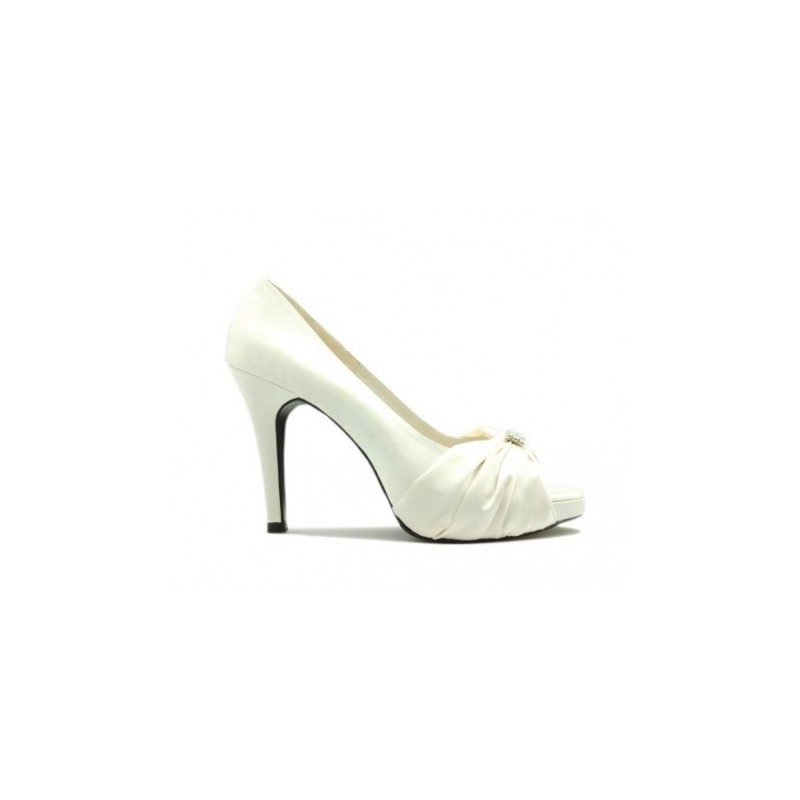 Caprice Champagne Satin Silk Wedding Shoes Fashion